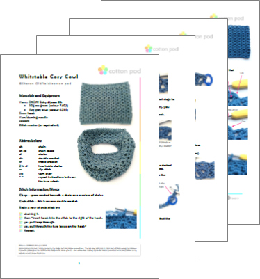Buy Cotton Pod Crochet Kit - Whitstable Cosy Cowl