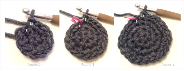 Making a felt crochet basket by Cotton Pod Sharon Oldfield