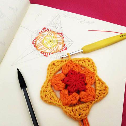Crochet Starfish - designed by Cotton Pod, UK