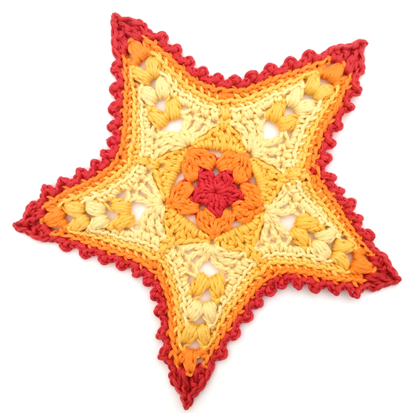 Crochet Starfish designed by Cotton Pod using DROPS Paris