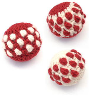 Crochet Christmas Baubles kit - felting project by Cotton Pod