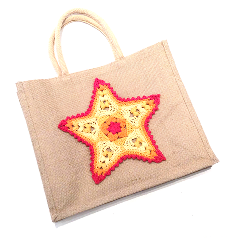 Starfish Beach Bag, designed by Cotton Pod, UK