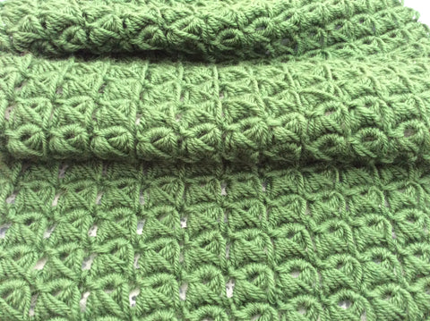 Broomstick Lace Crochet, DROPS Karisma Forest Green 47 at Cotton Pod