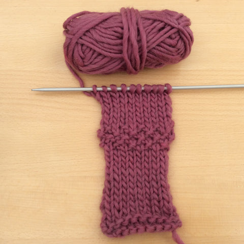 Continental style knitting sample