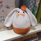 Megg the Easter Egg Bunny made from DROPS Paris by Cotton Pod