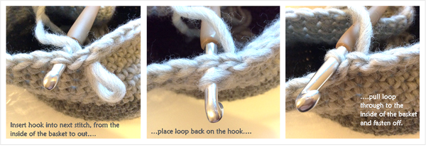 Fasten off Crochet Neatly Cotton Pod