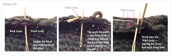 Finding the third loop, camel stitch, crochet by Cotton Pod