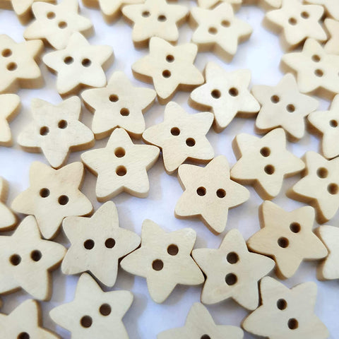 Wooden Star Buttons