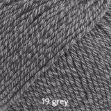 DROPS Cotton Merino 19 grey ~ buy from Cotton Pod