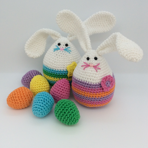 COTTON POD CROCHET PATTERN - MINI MEGG BUNNY & THE EGG HUNT (PDF DOWNLOAD)