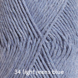 Buy DROPS Cotton Light 34 light jeans blue from Cotton Pod