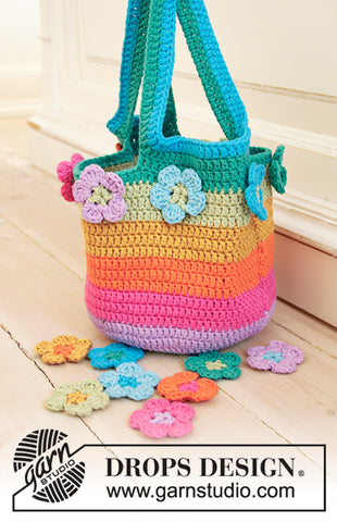 DROPS DESIGN ~ Flower Market Bag ~ order kit