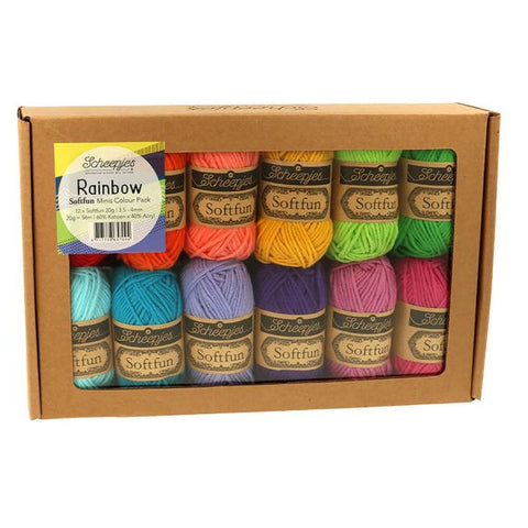 Buy / Shop Scheepjes Softfun Colourpack - RAINBOW