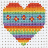 Anchor ~ 1st Cross Stitch Kit ~ Rainbow Heart