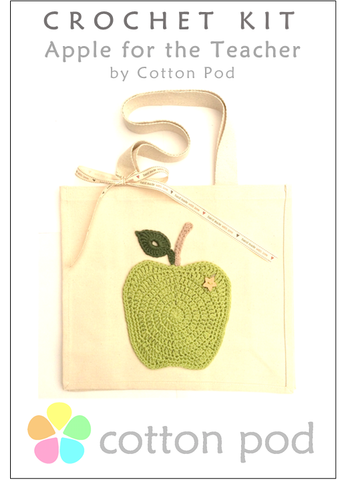 Cotton Pod Crochet Kit ~ Apple for the Teacher - Large Shopper