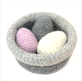 COTTON POD Crochet Kit ~ Felted Basket