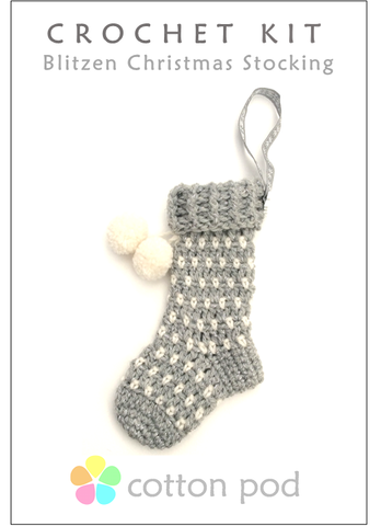 COTTON POD Crochet Kit ~ Blitzen (Silver)