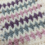 COTTON POD Crochet Kit ~ Dinky Diamonds Baby Blanket ~ 2 colourways