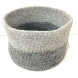 Crochet Felted Basket Pattern by Cotton Pod