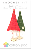 COTTON POD Crochet Kit ~ Festive Trees (2 pack)