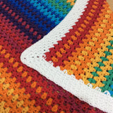 Rainbow Crochet Baby Blanket Pattern designed by Cotton Pod UK