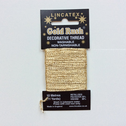 Buy Gold Lincatex Gold Rush Decorative Thread from Cotton Pod UK
