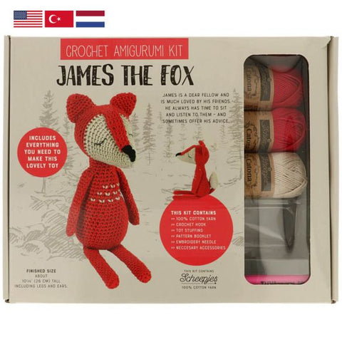 Tuva Amigurumi Crochet Kit James the Fox