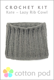Lazy rib Cowl Crochet Kit buy from www.cottonpod.co.uk