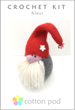 Klaus Christmas Gonk Crochet Kit buy from www.cottonpod.co.uk