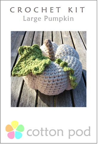 Large Pumpkin Crochet Kit buy from www.cottonpod.co.uk