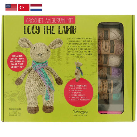 Tuva Amigurumi Crochet Kit Lucy the Lamb