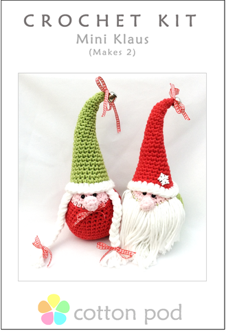 COTTON POD Crochet Kit ~ Mini Klaus (Makes 2) *