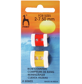 Buy PONY Row Counter ~ 2 pack ~ for sizes 2 - 7.5 mm from Cotton Pod UK