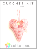 COTTON POD Crochet Kits - Classic Heart