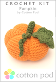 Pumpkin ~ Crochet Kit buy from www.cottonpod.co.uk