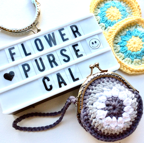 Flower Purse Crochet-A-Long