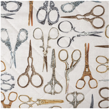 Buy Groves Classic Craft Bag SNIP (vintage embroidery scissors print) from Cotton Pod UK £25