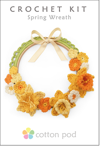 Buy Spring Wreath Crochet Kit from Cotton Pod UK