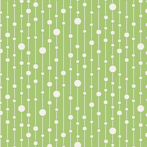 Tilda  Fabric Swatch ~ Apple Butter - Green Pearls