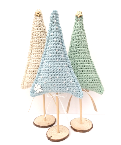 COTTON POD Crochet Pattern - Festive Trees (PDF Download)