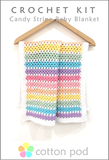 Candy Stripe Baby Blanket