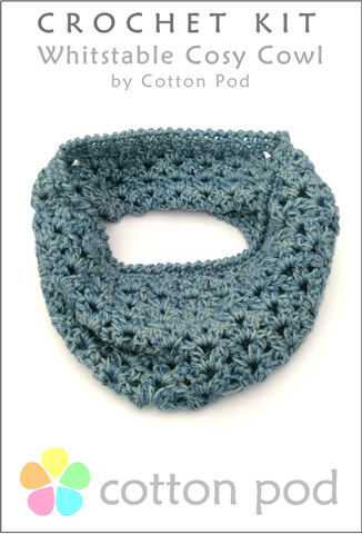 Whitstable Cosy Cowl Crochet Kit from www.cottonpod.co.uk