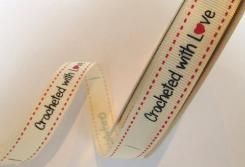 Berties Bows Labels - 'Crocheted with Love' x 10