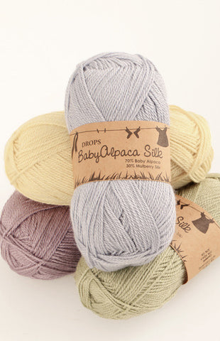 DROPS Baby Alpaca Silk ~ yarn ~ buy from Cotton Pod Ramsbottom Bury UK