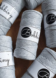 Buy Bobbiny 3mm Macrame Cord from Cotton pod UK silvery light grey
