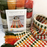 COTTON POD Crochet Kit ~ Super Granny Scarf ~ Autumn