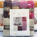COTTON POD Crochet Kit ~ Super Granny Scarf ~ Berry