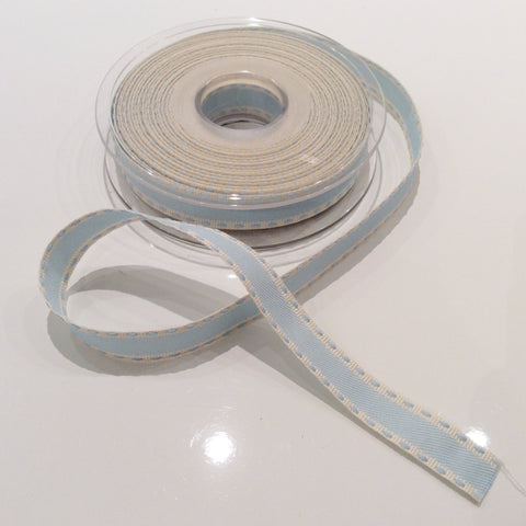 Buy Berisfords Vintage Stitch - Light Blue ribbon from Cotton Pod