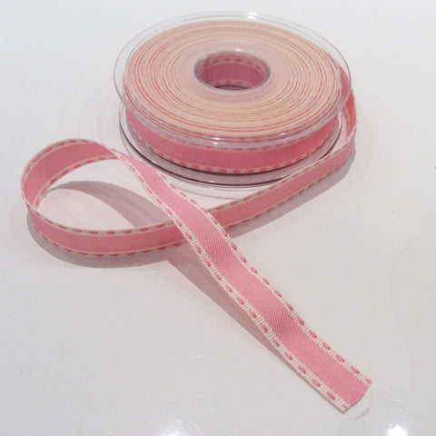 Buy Berisfords vintage stitch ribbon pink from Cotton Pod