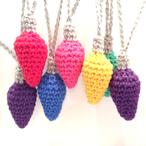 COTTON POD Christmas Lights - Crochet Pattern (PDF download)
